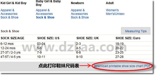 海淘儿童,宝宝的衣服,鞋子尺码怎么选择